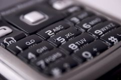 Mobile keyboard. With black buttons Royalty Free Stock Images