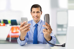 Mobile or landline for corporate Royalty Free Stock Photo
