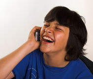 Mobile laughter Royalty Free Stock Photo