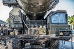 Mobile launcher of the strategic missile system. RSD-10 Pioneer (SS-20. Saber Stock Photo