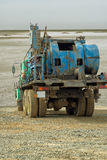 Mobile drilling rig. Royalty Free Stock Images