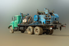 Mobile drilling rig. Royalty Free Stock Photo