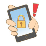 Mobile locked Royalty Free Stock Photos