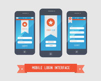 Mobile login interface form Royalty Free Stock Photography