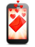 Mobile Love Letter Stock Photo