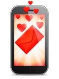 Mobile Love Letter Stock Photo