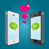 Mobile love Royalty Free Stock Photos