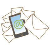 Mobile mail concept Royalty Free Stock Photos