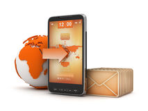 Mobile mail - concept illustration Stock Photo