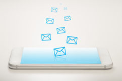 Mobile mailing stock image
