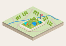 A mobile map of a campsite Royalty Free Stock Images