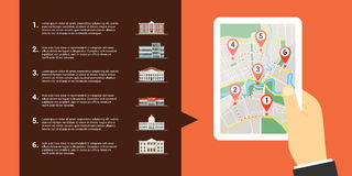 Mobile maps concept Stock Photography