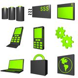 Mobile Market Icons Royalty Free Stock Photo