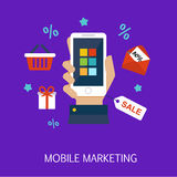 Mobile Marketing Concept Art Stock Image
