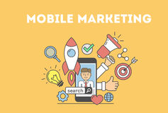 Mobile marketing concept. Royalty Free Stock Images