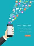 Mobile marketing concept Stock Photos
