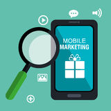 Mobile marketing Stock Photography