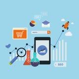 Mobile marketing elements Stock Photos