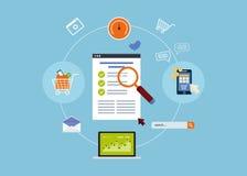 Mobile marketing elements Royalty Free Stock Image