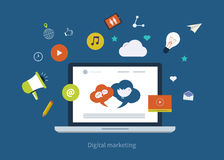 Mobile marketing icons Stock Photography