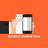Mobile marketing strategy flat concept Stock Photos