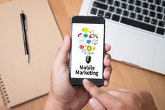 Mobile Marketing Royalty Free Stock Photos