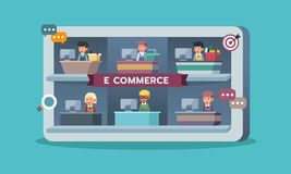 Mobile marketplace with retailers or seller, e-commerce stock photography