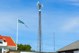 Mobile mast. Close to a home Royalty Free Stock Images