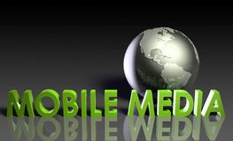 Mobile Media. Content of Online Entertainment in 3d Royalty Free Stock Photography