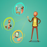 Mobile Medicine Illustration Stock Image