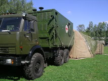 Mobile military hospital Stock Photo