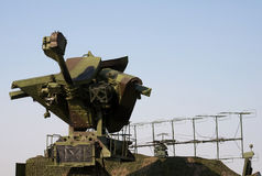 Mobile military radar Royalty Free Stock Images