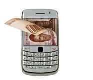 Mobile money Royalty Free Stock Photos