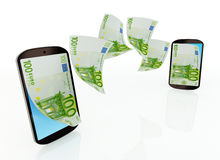 Mobile money transfer Royalty Free Stock Images