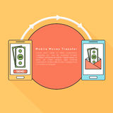 Mobile Money Transfer with smartphone. Stock Images