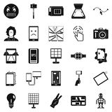 Mobile monitor icons set, simple style. Mobile monitor icons set. Simple set of 25 mobile monitor vector icons for web isolated on white background Royalty Free Stock Photos