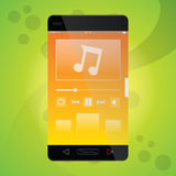 Mobile Music app Stock Images