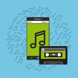 Mobile music commerce online Stock Photos
