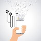 Mobile music commerce online Stock Image