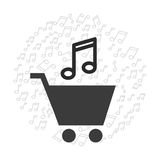 Mobile music commerce online Stock Photography