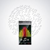 Mobile music commerce online Stock Images