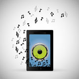 mobile music phone sound notes Stock Images