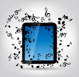 Mobile Music Phone Vector Illustration. Royalty Free Stock Images