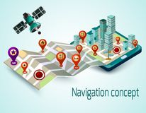 Mobile Navigation Concept Royalty Free Stock Images