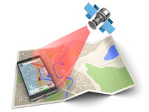 Mobile navigation Stock Images