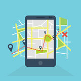 Mobile navigation GPS Royalty Free Stock Photography