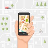 Mobile navigation Stock Photography