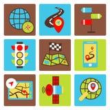 Mobile navigation icons Stock Photos