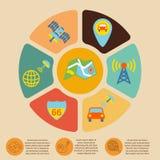 Mobile navigation infographics Stock Photography