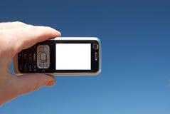 Mobile nel cielo immagine stock